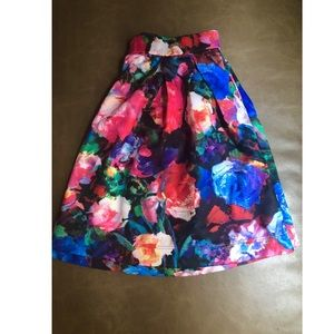 EXPRESS Floral Mini Skirt
